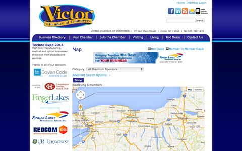 Screenshot of Maps & Directions Page victorchamber.com - Map - Victor Chamber of Commerce - CM - captured Oct. 9, 2014