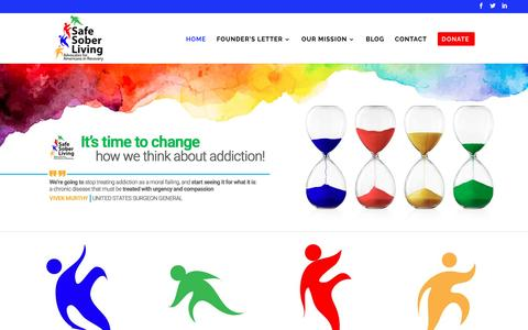 Screenshot of Home Page safesoberliving.org - Home - Safe Sober Living - captured May 27, 2017
