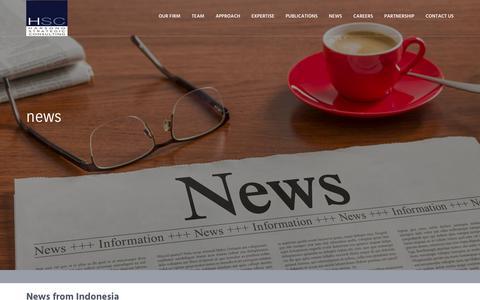 Screenshot of Press Page harsono-strategic.com - Harsono Strategic Consulting - News from Indonesia - captured Sept. 26, 2018