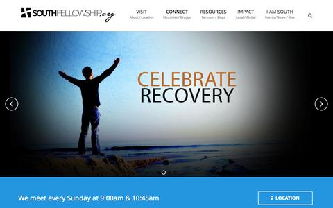 Screenshot of Home Page southfellowship.org - South Fellowship Church - a littleton colorado church - captured Oct. 6, 2014