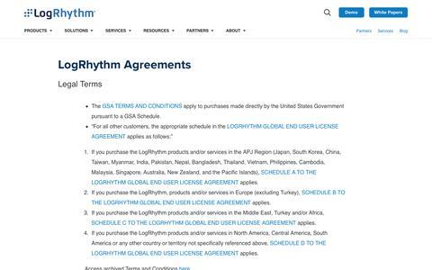 LogRhythm Terms and Descriptions | LogRhythm