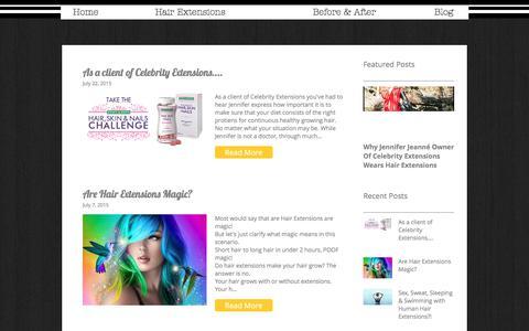 Screenshot of Blog celebrityextensions.com - Celebrity Extensions Blog - captured July 19, 2017