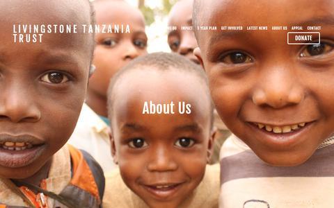 Screenshot of About Page livingstonetanzaniatrust.com - Trustees, staff,  Partnership and governance — Livingstone Tanzania Trust - captured Nov. 5, 2018