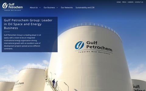 Screenshot of Home Page gulfpetrochem.com - Gulf Petrochem - captured Oct. 3, 2014