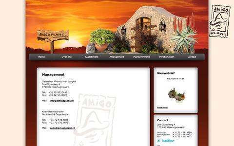 Screenshot of Team Page amigoplant.nl - Management - Amigo Plant - captured Sept. 30, 2014