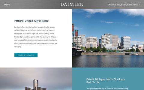 Screenshot of Locations Page daimler-trucksnorthamerica.com - Locations | Daimler - captured July 31, 2016