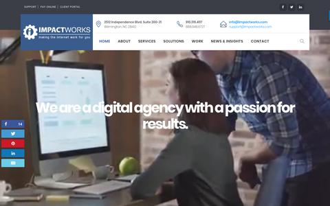 Screenshot of Home Page impactworks.com - ImpactWorks   Website Design & Development, Website Care & Digital Marketing   ImpactWorks - captured Oct. 14, 2017