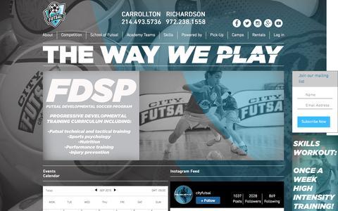 Screenshot of Home Page cityfutsal.com - city futsal - captured Sept. 12, 2015