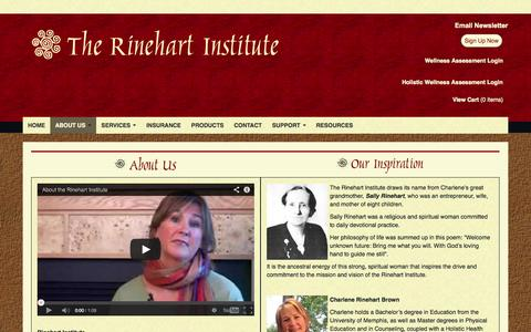 Screenshot of About Page rinehartinstitute.com - Rinehart Institute :: About Us - captured Oct. 26, 2014