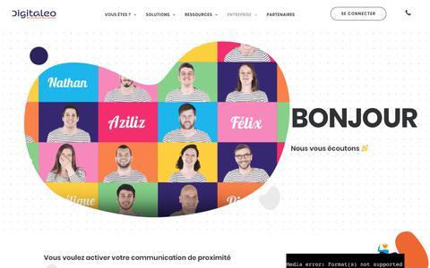 Screenshot of Contact Page digitaleo.fr - Contactez-nous - Digitaleo - captured Oct. 21, 2019