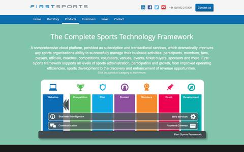 Screenshot of Products Page first-sports.com - First Sports - captured Oct. 13, 2017