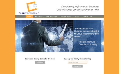 Screenshot of Home Page claritycentral.net - Home | Clarity Central - captured May 17, 2017