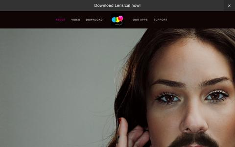 Screenshot of About Page lensic.al - Lensical - captured Dec. 16, 2014