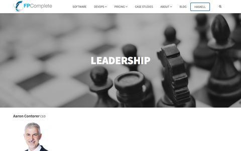 Screenshot of Team Page fpcomplete.com - Leadership - captured July 13, 2018