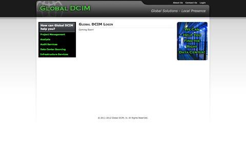 Screenshot of Login Page globaldcim.com - Global DCIM Login - captured Sept. 30, 2014