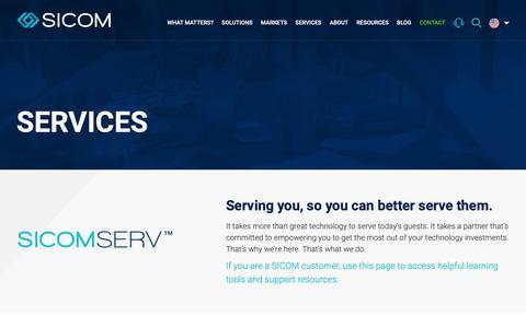 Screenshot of Services Page sicom.com - Services - SICOM : SICOM - captured Oct. 19, 2018