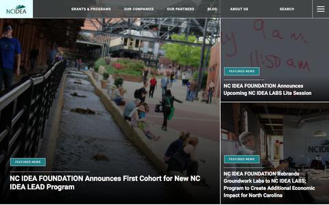 Screenshot of Press Page ncidea.org - News - NC IDEA - captured Nov. 2, 2017