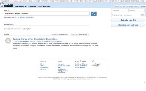 reddit.com: search results - Electronic Tenant Solutions