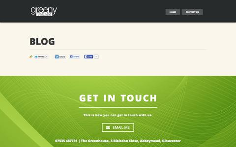 Screenshot of Blog greenyvisuals.com - Greeny Visuals |   Blog - captured Sept. 30, 2014
