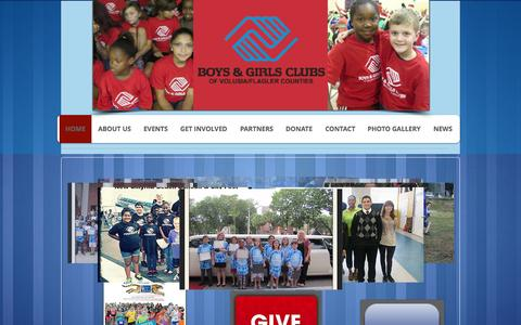 Screenshot of Home Page bgcvfc.org - Boys and Girls Clubs of Volusia Flagler Counties - captured Sept. 19, 2015