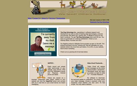 Screenshot of Services Page topdogadvantage.com - Top Dog Advantage - captured Oct. 7, 2014