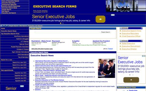 Screenshot of Home Page executive-search-firms.com - Executive Search Firm, Executive Search, TOP EXECUTIVE SEARCH FIRM news,  Executive Search Firms rank,Top Executive Search Firms ranking,executive job  search retained executive search firm directory international executive search  firm directory,exe - captured April 7, 2016