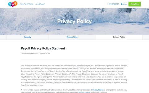 Privacy Policy | Payoff