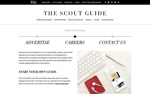 Screenshot of Jobs Page thescoutguide.com - Careers - The Scout Guide - captured Oct. 11, 2017