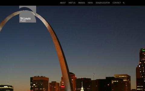 Screenshot of Home Page stlouismusic.com - St. Louis Music - captured Oct. 7, 2014