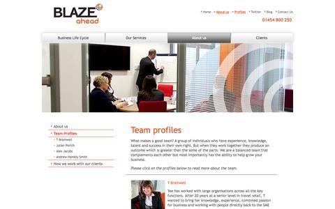 Screenshot of Team Page blazeahead.co.uk - Blaze Ahead Team - captured Oct. 5, 2014