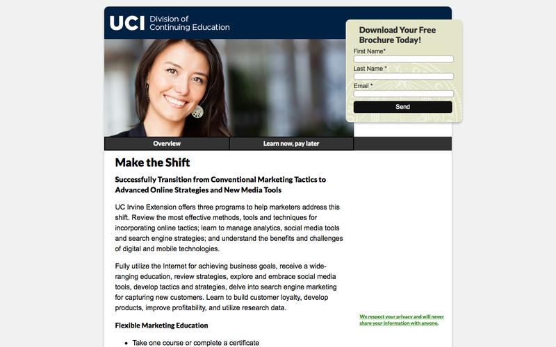 UC Irvine Extension Marketing Programs