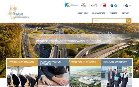 Screenshot of Home Page invest-ksse.com - Invest in Poland in Special Economic Zone - captured Jan. 25, 2017