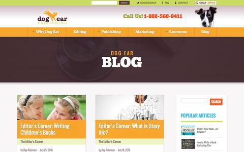 Screenshot of Blog dogearpublishing.net - Dog Ear Publishing - Dog Ear Publishing - captured Aug. 2, 2016