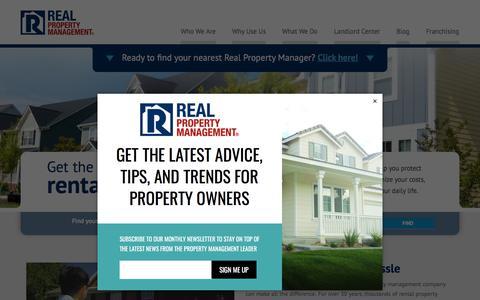 Screenshot of Home Page realpropertymgt.com - Real Property Management National Headquarters - captured April 3, 2018