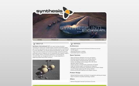 Screenshot of Home Page synthesis-intl.com - Synthesis Intl. - captured June 13, 2016