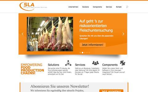 Screenshot of Home Page sla.de - SLA | Software Applications Services - captured Sept. 17, 2015
