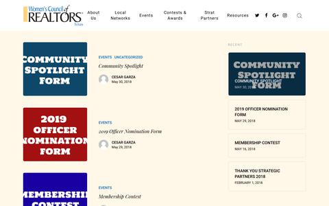 Screenshot of Blog wcrtexas.org - Blog – Women's Council of REALTORS® Texas - captured Oct. 20, 2018