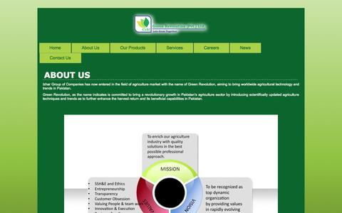 Screenshot of About Page greenrevolution.com.pk - New Page | Green Revolution | Revolution in the Agricultural Field - captured Sept. 22, 2014