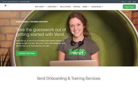 Screenshot of Services Page vendhq.com - Services | Vend POS | Vend - captured June 18, 2018