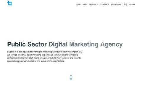 Public Sector Digital Marketing Agency | Bluetext