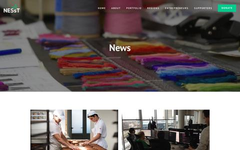 Screenshot of Press Page nesst.org - News   Social Enterprise   Social Entrepreneurship   NESsT - captured Sept. 20, 2018
