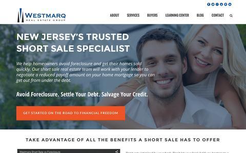 Screenshot of Home Page westmarq.com - NJ Short Sale Specialist - Westmarq - captured Feb. 25, 2016
