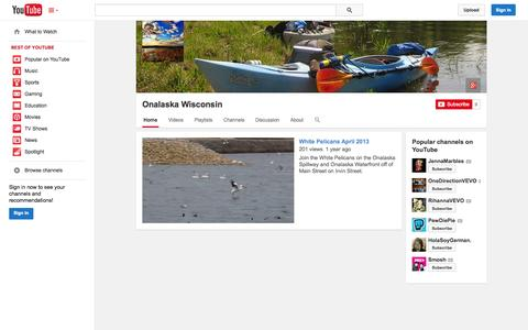 Screenshot of YouTube Page youtube.com - Onalaska Wisconsin  - YouTube - captured Oct. 26, 2014