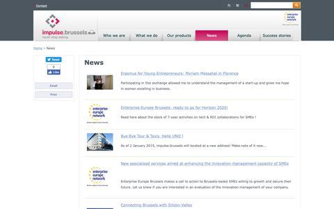 Screenshot of Blog Press Page abe-bao.be - News | BRUSSELS ENTERPRISE - captured Sept. 30, 2018