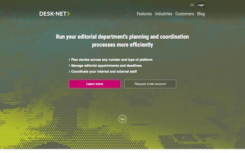 Screenshot of Blog desk-net.com - Desk-Net - the editorial management software - captured Sept. 12, 2015