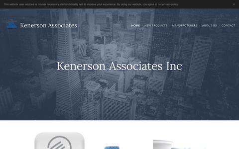 Screenshot of Home Page kenerson.com - Kenerson Associates - captured Oct. 15, 2018