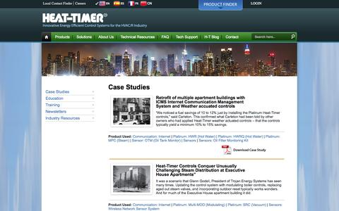 Screenshot of Case Studies Page heat-timer.com - Case Studies | Heat-Timer - captured Oct. 2, 2014