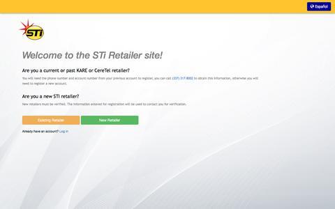 Screenshot of Signup Page stiprepaid.com - STi Prepaid - captured July 26, 2018