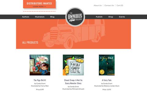 Screenshot of Products Page theomnibuspublishing.com - Children's Books | Ages 0-7, 7-12 | The Omnibus Publishing - captured June 10, 2017