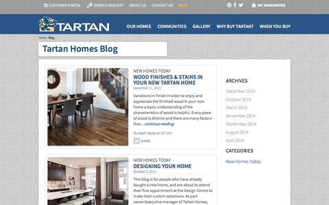 Screenshot of Blog tartanhomes.com - Tartan Homes Blog   Tartan Homes - captured Jan. 10, 2016